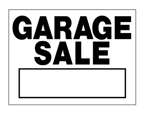 Where To Get Garage Sale Signs by Buy Our Black And White Quot Garage Sale Quot Sign From Signs