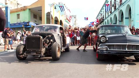 fast and furious 8 hot scene furious 8 taps classic american cars for cuba location