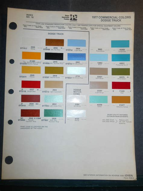1977 dodge truck ditzler ppg color chips paint sles commercial ebay