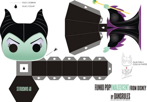Disney Paper Craft - funko pop maleficent from disney papertoy by dansrules on