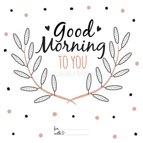 inspirational romantic quote card good morning  stock vector image