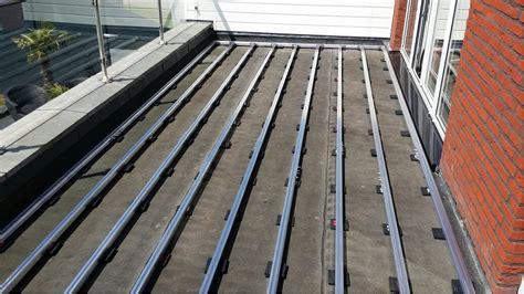 belag terrasse aslon terrace decking substructure system installation