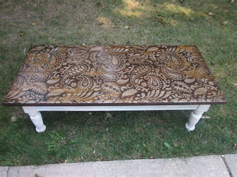 40 best images about coffee table redo on stains leather tops and ottomans