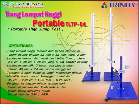 Alat Olahraga Tiang Lompat Tinggi tiang lompat tinggi portabel tltp 04 portable high jump stand agen alat olahraga