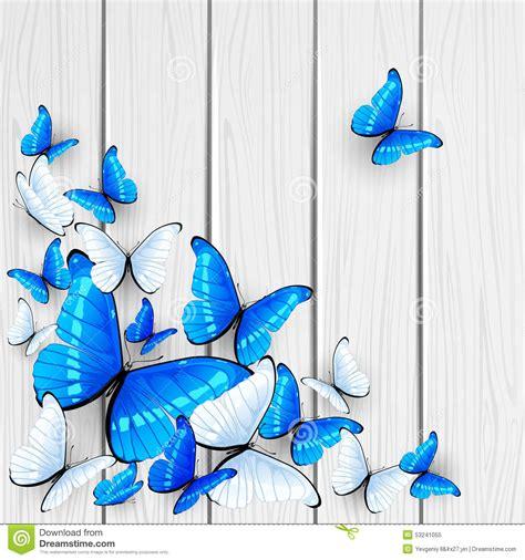imagenes mariposas turquesas mariposas azules en fondo de madera ilustraci 243 n del vector