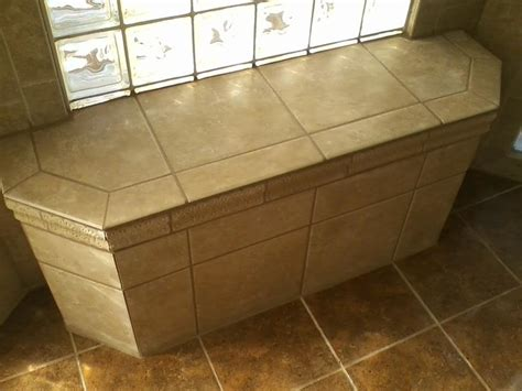 tiled shower with bench custom tile shower bench contemporary bathroom