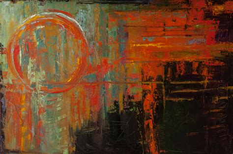 an abstract painting abstract painting layered paint