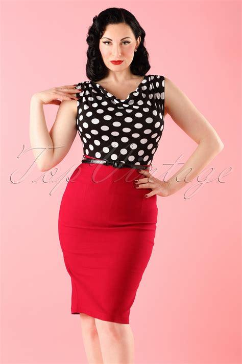 Top Vintage by 60s Vixen Ramona Wiggle Dress Polka