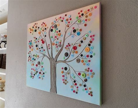 craft work for home decoration diy crafts for home decor button tree crafts work