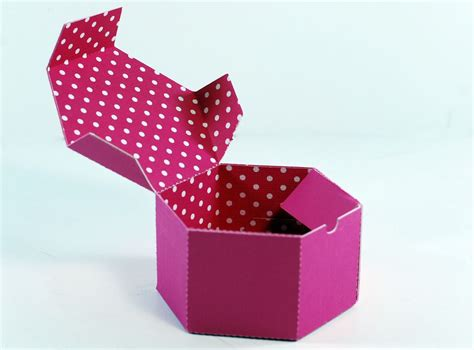 6 sided box template how to make a hexagon shaped gift box
