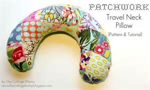 patchwork travel neck pillow pattern tutorial the