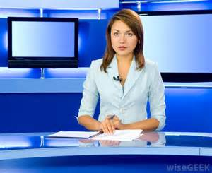 What does a tv news reporter do with pictures