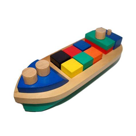 Mainan Edukasi Balok jual mainan edukasi balok bangun perahu mainan kayu harga kualitas terjamin blibli