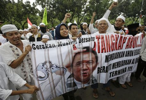 ahok religion police make arrests ahead of massive rally in jakarta