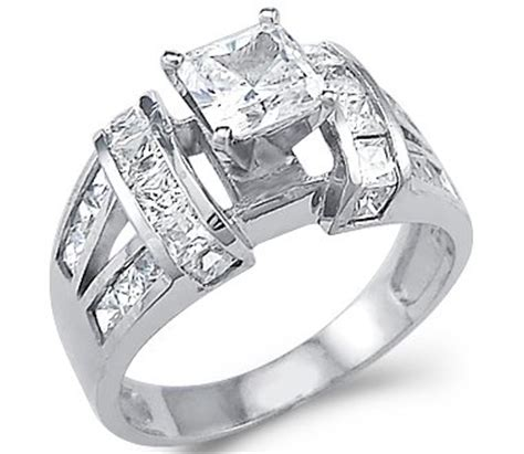 cubic zirconia and white gold engagement rings special