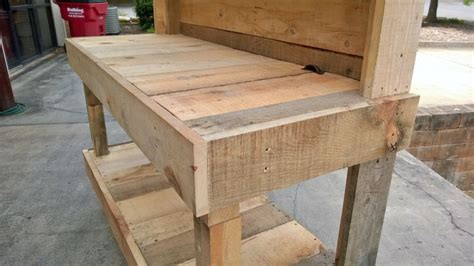 how to build a garden work bench an upcycled garden work bench that i made out of pallet