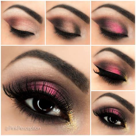 tutorial makeup eyeshadow pink pink smokey eye step by step tutorial pink perception