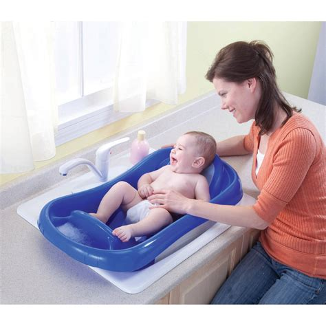 baby bathtub sling deluxe newborn to toddler tub blue baby bath tub w sling best educational infant