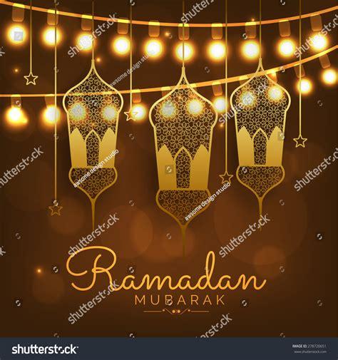 Ramadan Kareem Greeting Card Template by A Greeting Card Template Ramadan Kareem Stock Vector