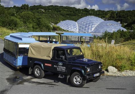 electric land rover land rover s electric defender proves its worth at uk s