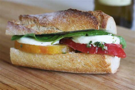 is a a sandwich recipe caprese sandwich with basil chimichurri sauce catch my