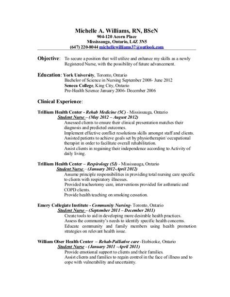 Rn Resume Ontario mchelle nursing resume update rn clean copy
