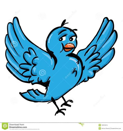 libro drle doiseau dessin anim 233 d oiseau bleu illustration de vecteur illustration du social 19010515
