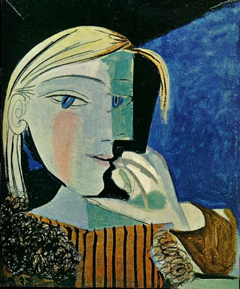 by pablo picasso marie therese walter pablo picasso portrait of marie therese 1937