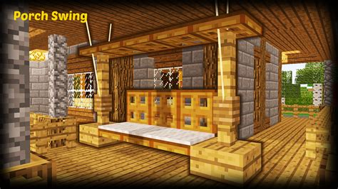 swing minecraft minecraft how to make a porch swing minecraft project