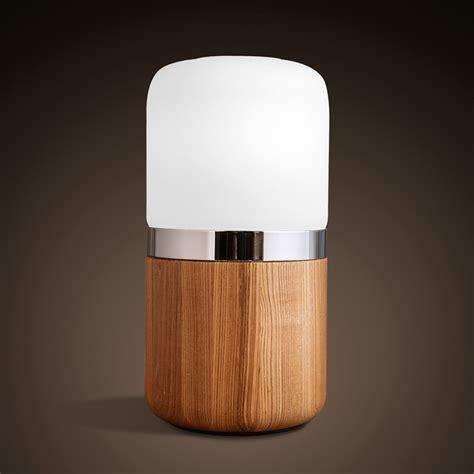 Nachttischleuchten Modern by Engraved Wood Decoration Led Bulbs Desk L Jar