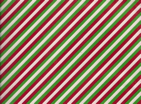 red green white striped christmas gift wrap flat wrapping