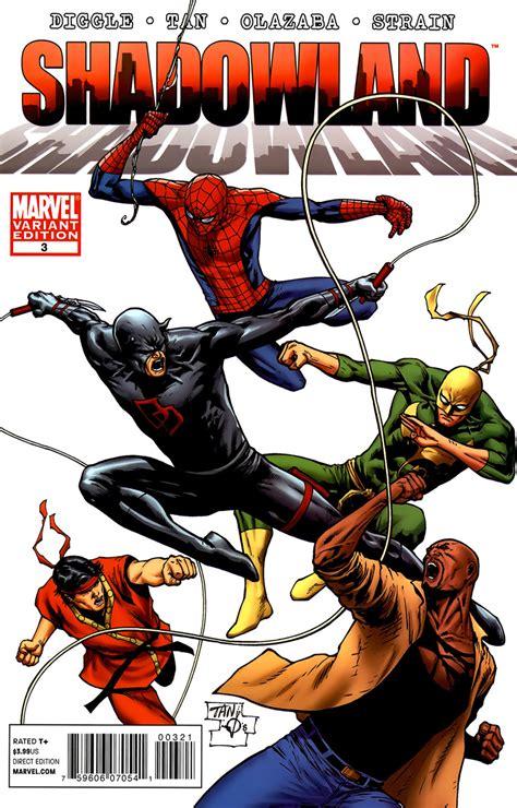 Komik Marvel Shadowland Thunderbolt shang chi