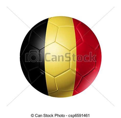 clipart voetbal voetbal bal met belgie vlag 3d