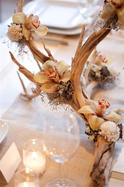 rustic driftwood wedding ideas  love   deer