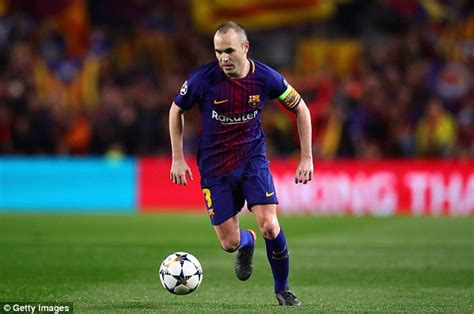 barcelona in chions league barcelona believe andres iniesta will leave for chinese