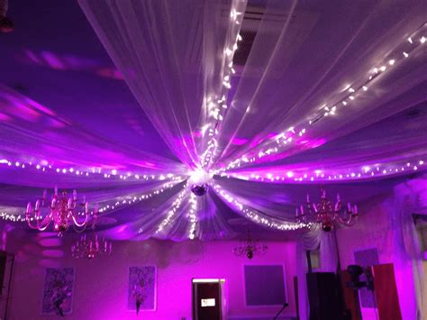 white ceiling drapes creative cover hire