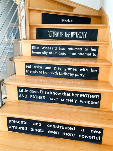 Diy Starrs Opening Crawl On Stair Risers Starrs