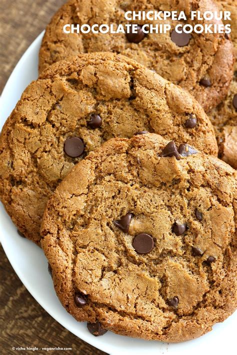 Book I Want Big Cookies by Chickpea Flour Chocolate Chip Cookies Gluten Free Vegan