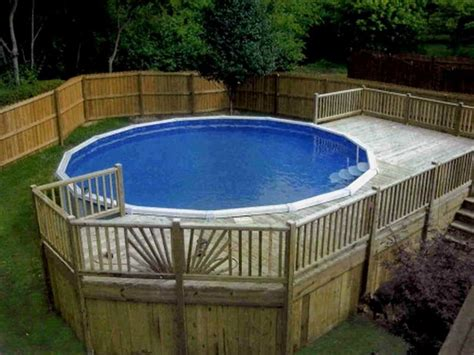 above ground pool deck ideas from wood for relaxation area at home homestylediary com