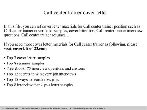 thank you letter to call center trainer cover letter 1653