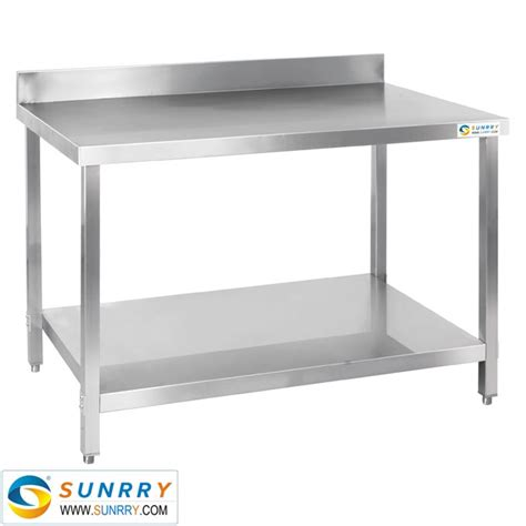 stainless steel kitchen work table with 4 drawer stainless