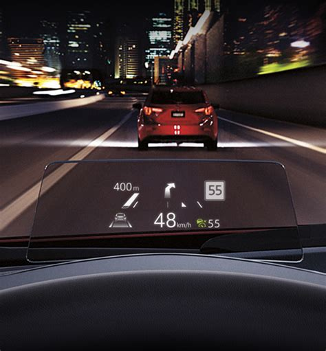 which canadian mazda models active driving display