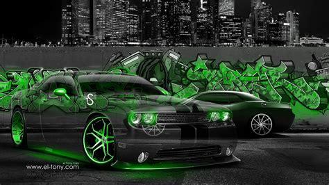graffiti wallpaper car dodge challenger muscle crystal graffiti car 2014 el tony