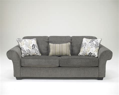charcoal loveseat buy makonnen charcoal loveseat by signature design from
