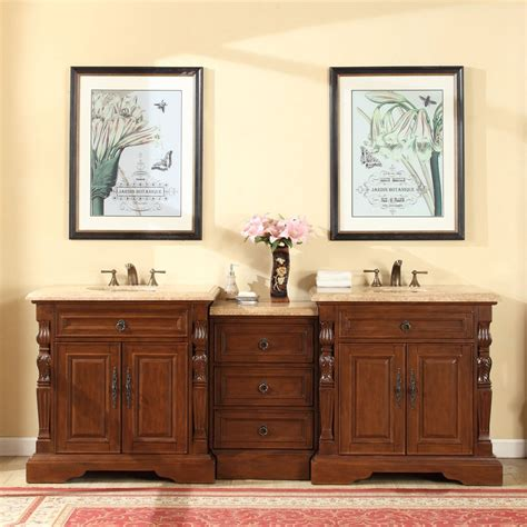 accord 90 inch double sink bathroom vanity roman vein cut