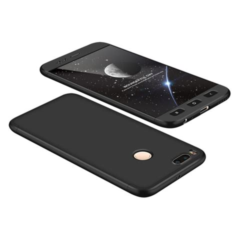 Soft Black Matte Mi A1 Atau 5x 360 protection front and back cover xiaomi