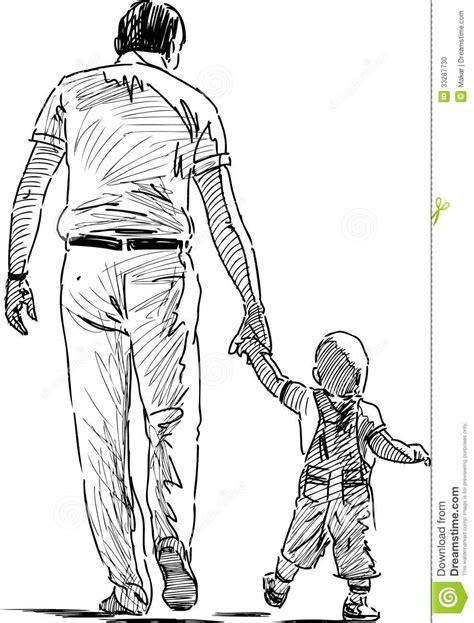 Father and son stock vector. Illustration of summer