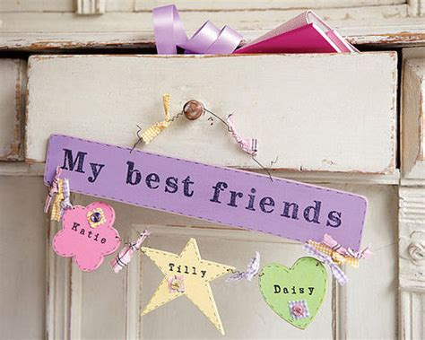 Handmade Gifts For Best Friends - personalised gift ideas junior rooms