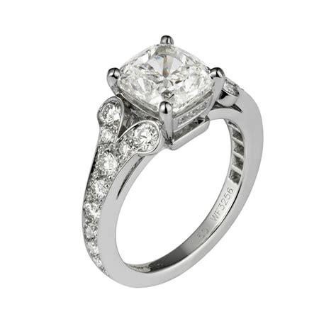 cartier ballerine cushion cut diamond engagement ring engagement rings photos brides com