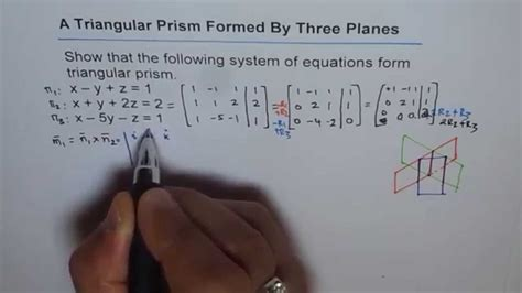 Why Do All Aircrfats Form Jro Stop In Mba by Condition For Triangular Prism Formed By 3 Planes